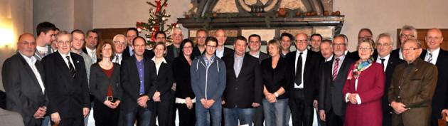 Die Gründungsstifter bei der Gründung am 27. Dezember 2013 im Rittersaal von Schloss Raesfeld.