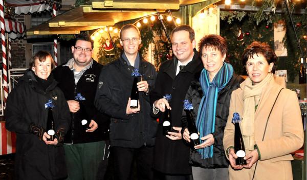 Jutta Bonhoff, Johannes Stegerhoff jr., Detlef Weber, Andreas Grotendorst, Rita Grömping, Gudrun Grewing (von links nach rechts).