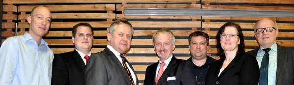 Der Stiftungsrat: Thomas Schulte-Terhart, Benedikt Kisner, Edwin Schwane, Dr. Hubert Koch, Christian Kruse, Eva Spangemacher, Ewald Gesing (von links nach rechts).