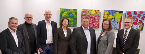Thomas Schulte-Terhart, Benedikt Kisner, Edwin Schwane, Dr. Hubert Koch, Christian Kruse, Eva Spangemacher, Ewald Gesing (von links nach rechts).