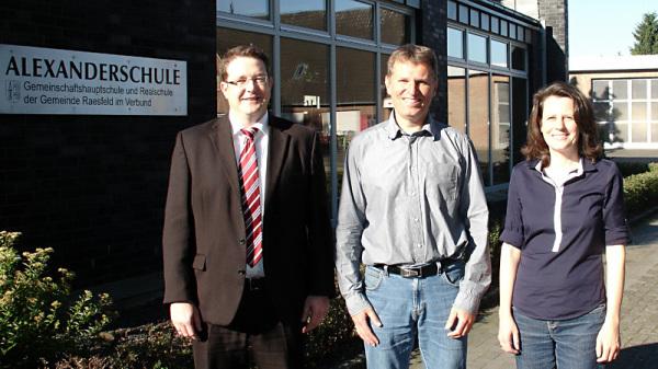 v. l.: Heiko Gudel, Matthias Stroetmann, Dr. Gerswid Altenhoff-Weber