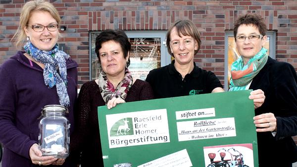 v. l.: Margit Kasparek, Ruth Beering, Jutta Bonhoff, Lucia Deiters