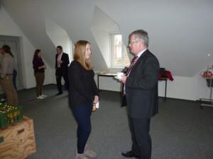 Gespräch zwischen dem Mentor Martin Thesing und der Schülerin Jana Buchholz