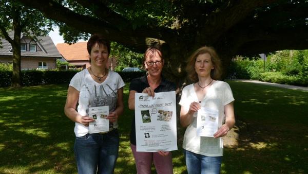 Rita Grewing, Jutta Bonhoff und Sandra Lordieck hoffen auf gutes Wetter.