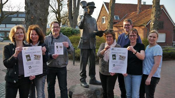 Die Bürgerstiftung lädt ein: v.l.: Sandra Lordieck, Claudia Gesing, Heiko Gudel, Ruth Beering, Richard Beering, Jutta Bonhoff, Kathrin Bonhoff.
