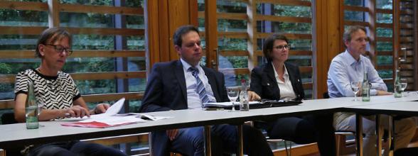 v. l.: Jutta Bonhoff, Andreas Grotendorst, Birgit Romeiß-Geuting, Ludger Vornholt.