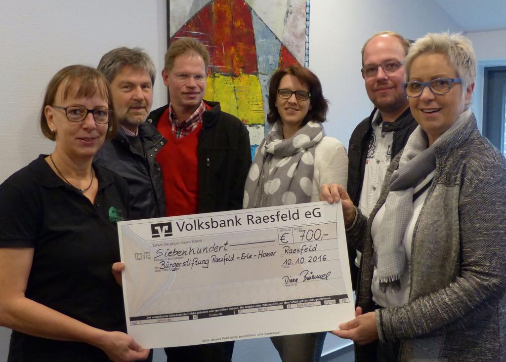 v.l.: Jutta Bonhoff, Elmar Schmelter, Peter Süthold, Elke Mohr, André Wachtmeister und Diana Brömmel.