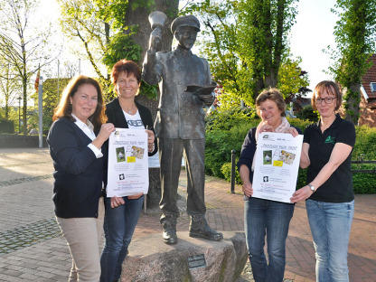 Die Organisatoren (v.l.: Claudia Gesing, Rita Grömping, Ruth Beering und Jutta Bonhoff) hoffen auf gutes Wetter.