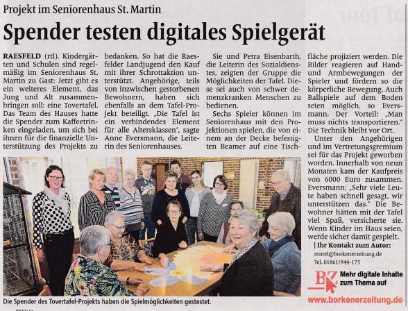 Die Borkener Zeitung berichtete am 11. Mai 2019.