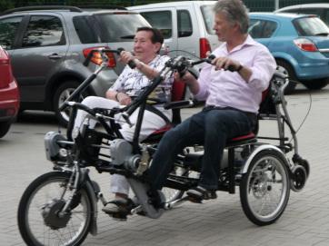 Werner Heisterklaus engagiert sich beim Projekt Rollfietse.