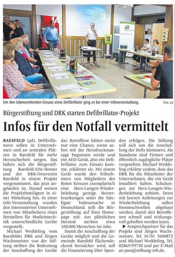 Die Borkener Zeitung berichtete am 24. Juli 2019