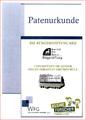 Patenurkunde für die Sebastianschule Raesfeld